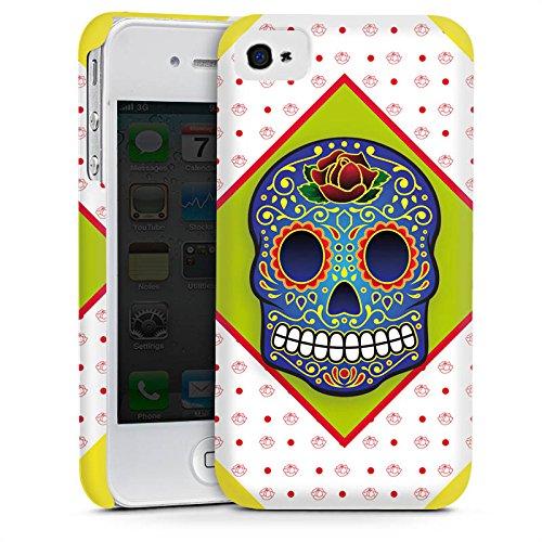 Apple iPhone 5s Housse Étui Protection Coque Crâne couleurs Abstrait Cas Premium mat
