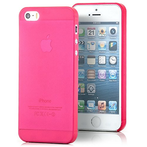 Saxonia Apple iPhone SE / 5S / 5 Hülle TPU Case Ultra Slim Schutzhülle Grün Rot