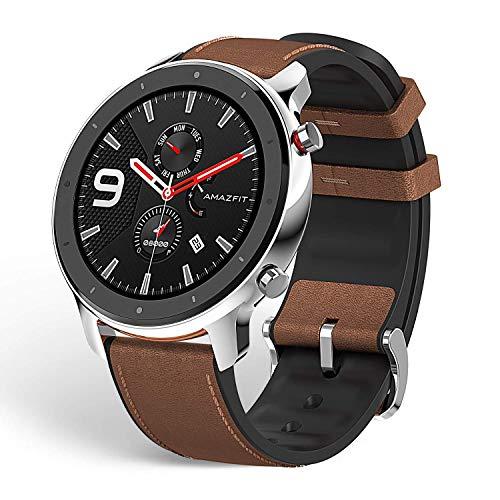 Xiaomi Amazfit GTR - Smartwatch Sportivo | 20 Giorni di Batteria | AMOLED da 1,39' | GPS + GLONASS | frequenza cardiaca Continua di 24 Ore (Android 5.0 e iOS 10.0) - Stainless Steel
