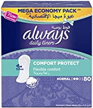 Always Daily Liners Comfort Protect, Normal, 80 Count