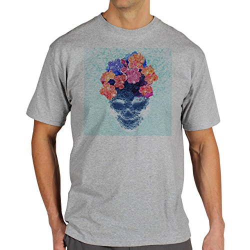 Skull Flower Edition Background Herren T-Shirt Grau