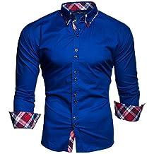 Kayhan Hombre Camisa Manga Larga Slim Fit S M L XL 2XL