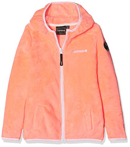ICEPEAK Mädchen ROSANNA JR Fleece Kinder ROSANNA JR, Orange (Orange/Pink),11-12 years / 152cm