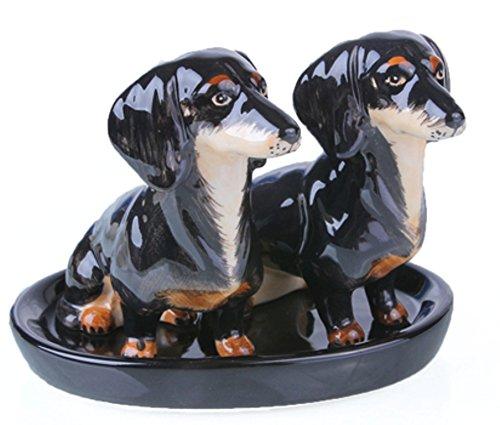 Dackel Salz und Pfefferstreuer Set Keramik