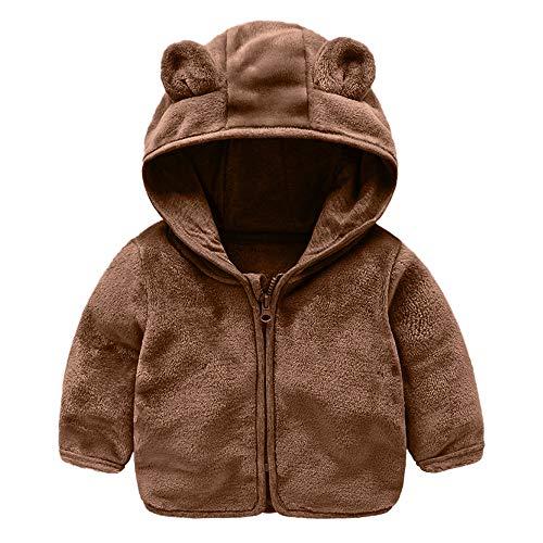 (Modaworld Kid Infant Baby Jungen Mädchen Cartoon Ohr Kapuzenpullover Tops Warme Kleidung Mantel Herbst Mit Kapuze l Hase Jacke Dick Warm WolljackeHooded Pullover Clothes Coat)