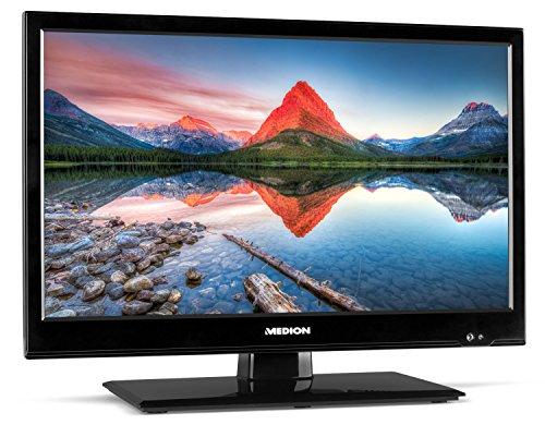 MEDION LIFE P13174 MD 21440 (18,5 Zoll HD) Fernseher (LED-Backlight-TV, Triple Tuner, DVB-T2 HD, CI+, HDMI, KFZ Car Adapter, integrierter Mediaplayer) schwarz