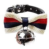 KDSANSO Hundehalsband mit Strass Pet Supplies Schmetterling Fliege Glocke Kleine und Mittlere Hunde Gentleman 38 * 1cm