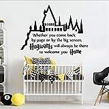 Magic Castle Vinyl-Aufkleber Harry Potter Hogwarts für Kinderzimmer, Schlafzimmer, Dekoration, Filmposter