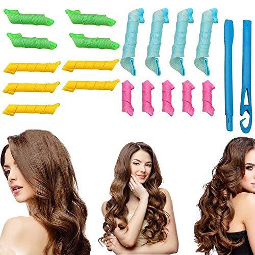 Rizadores de pelo para mujeres, rizadores de rizos, mini pinzas de pelo corto para niños, no se calientan con calor, productos para rizar el cabello natural