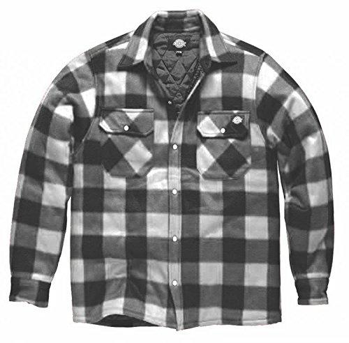 flanell jacke herren DICKIES Holzfällerhemd Thermohemd PORTLAND (S, Weiß)