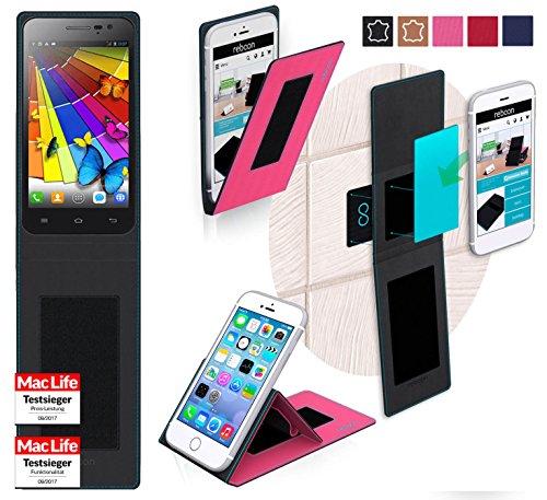 reboon Hülle für JiaYu G2F 850 Tasche Cover Case Bumper | Pink | Testsieger