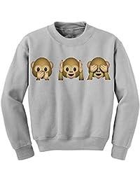 Demarkt Femmes Vilain Singe Emoji Imprimé à manches longues Pull Tops Blouse Cartoon Animaux Sweatshirt