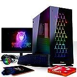 Fierce Avenger High-End RGB Gaming PC Bundeln - Schnell 4.3GHz Hex-Core Intel Core i5 8600, 480GB SSD, 16GB, NVIDIA GeForce RTX 2080 8GB, Tastatur (QWERTZ), Maus, 24-Zoll-Monitor, Headset 1089218