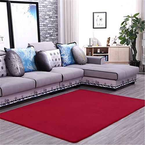 MIRUIKE Teppiche Koralle Samt Thickening für Wohnzimmer Couchtisch Schlafzimmer Teppich moderner minimalistischer, F, 4.6'x6.6'(140x200cm) -