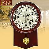 King Size Wohnzimmer Ideen hohlen Antike Uhren hängen Li Ton stumm Continental pastorale Quarzuhren,20 Zoll,neue Funktionen Läuten