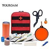 TOUROAM Erste-Hilfe-Set für Männer, Frauen, Haustiere, Wander-Trauma-Set, Humen & Animal IFAK, Adventure Military Tactical Wound Care Erste-Hilfe-Set