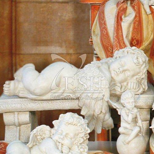 floristikvergleich.de Casa Collection 06053 Kantenlieger, Engel mit großem Flügel, 25 x 45 cm, antikweiß, (Ohne Bank)