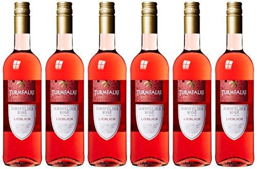 Turmfalke Dornfelder Rosé Qualitätswein Süß (6 x 0.75 l)