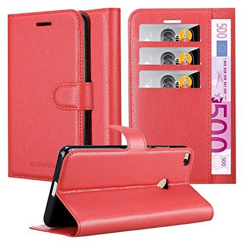 Cadorabo Funda Libro para Xiaomi Mi MAX 2 en Rojo Carmin - Cubierta Proteccíon con Cierre Magnético, Tarjetero y Función de Suporte - Etui Case Cover Carcasa