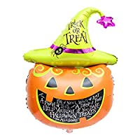 iN Indoor or Outdoor Halloween Foil Balloon Decoration Balloons Accessories to take Trick or Treating Compatible with Helium