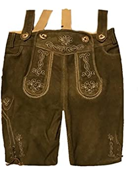 Herren Trachten Lederhose Trachtenlederhose Kurze Tracht Braun Gr.52#20