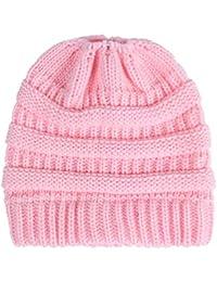 Elecenty Cappellino Slouchy forma di berretto sci lavorato a maglia con  lana invernale lavorato a maglia 3aaf102cb351