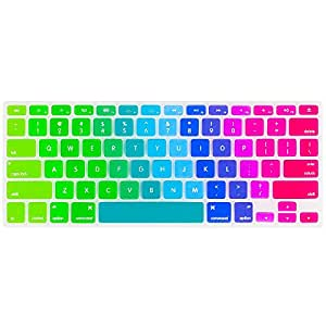 Kuzy NewRainbow.Key Silicone Case Cover for MacBook Pro, iMac and MacBook Air 13 inch