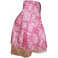 Mogulinterior Mogul Womens Vintage Silk Sari Wrap Skirt Boho Printed Reversible Beach Dress