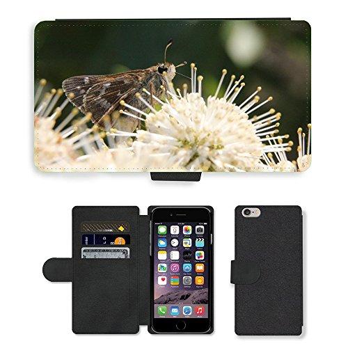 Just Mobile pour Hot Style Téléphone portable étui portefeuille en cuir PU avec fente pour carte//m00138850Bug papillon Insectes//Apple iPhone 6Plus 14cm