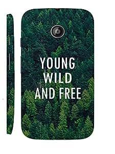 KALAKAAR Printed Back Cover for Motorola Moto E,Hard,HD Matte Quality,Lifetime Print Warrenty