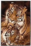 Lalee Teppich Wohnzimmer Carpet Modernes Design Tiere Tiger Rug Funky 8300 Beige 120x170cm | Teppiche günstig Online kaufen