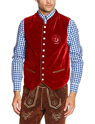 Fuchs Trachtenmoden Herren Trachtenweste, Rot (Rot), 52