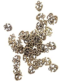 C2K 50x Ship Anchor DIY Charms Jewelry Findings Pendant Beads Crafts Bronze