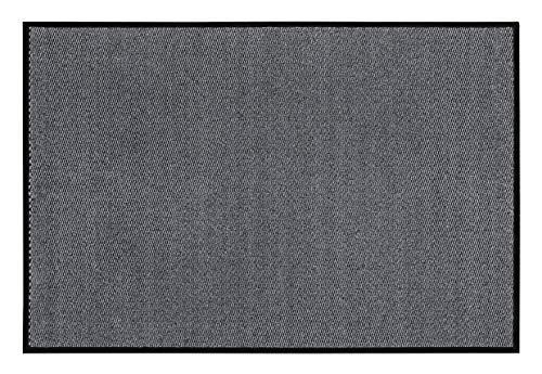 andiamo Schmutzfangmatte, Fußmatte aus Polypropylen - Indoor/Outdoor geeignet - in 40 x 60 cm Hellgrau - 5 mm Höhe