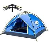 Zelt für 2-3 Personen, Night Cat Wasserdicht Stoff wurfzelt für Pavillon Camping Automatik hydraulisch Frühling Einrichtung Doppelschicht-Zelt mit Tragetasche