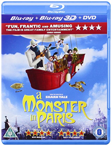 A Monster in Paris (Blu-ray 3D + Blu-ray + DVD) [UK Import] -