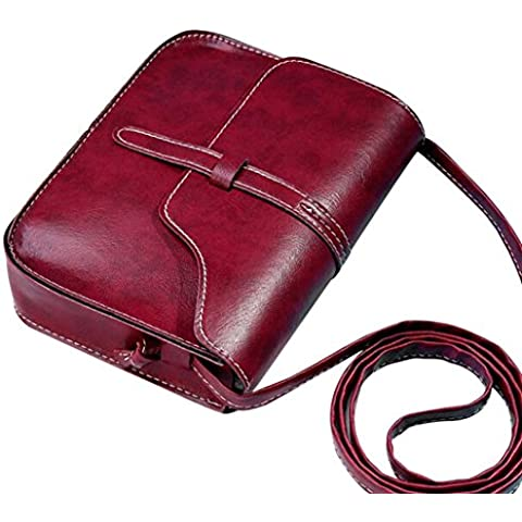 Amlaiworld Vintage Leather Crossbody bolso Messenger