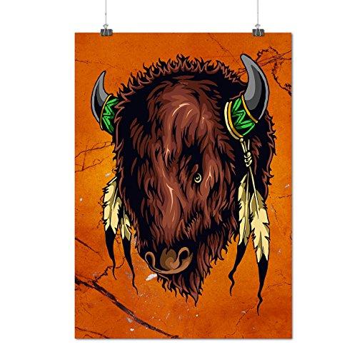 Einheimische indisch Stier Mattes/Glänzende Plakat A3 (42cm x 30cm) | Wellcoda (Wolle E Stier Kostüm)
