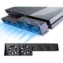 PS4 Turbo refrigerador ventilador de refrigeración - ElecGear Control De La Temperatura Del Súper USB Cooling Fan Cooler para Sony PlayStation 4