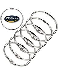 en vrac à anneaux en métal pour livres Anneaux Porte-clés Anneaux, 5,1cm de diamètre, 20pièces
