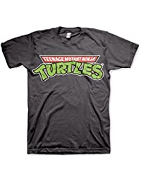 eb89606aa15 Teenage Mutant Ninja Turtles Men s Classic Logo Grey T-Shirt  Large