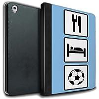 STUFF4 PU Pelle Custodia/Cover/Caso Libro per Apple iPad Pro 9.7 tablet / Calcio/Blu / Mangiare/Sonno disegno