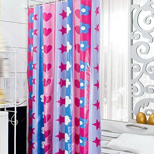 Rideaux de douche Rideau De Douche En Polyester Salle De Bains Imperméable Bathe Salle De Bains Mode Simple Confortable Mignon Durable ( taille : 180X80CM )