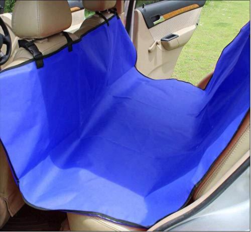 Zll PET Seat Cover Dog Seat Seat Seat Seat Cover für Back Seat Scratch Proof Non Slip Durable für Autos Trucks und SUVs mit Sicherheits-Schnallen,Blue (Auto Blue Covers Seat)