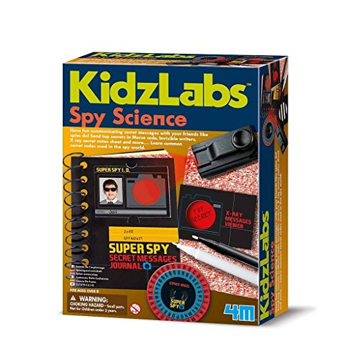 "Have fun communicating secret messages with your friends like real spies do! Send Morse code messages with a cool mini Morse codes shutter torch, Write on ""X Ray"" secret message sheet, which can only be read with decoder lens Create Invisible message..."