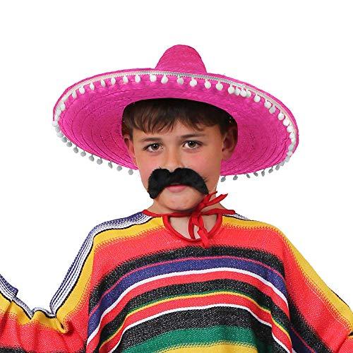 ILOVEFANCYDRESS Kinder SOMBREROS=KLEINE Mexikaner HÜTE STÜCKZAHLEN=Fasching Karneval =1 ROSA (Mädchen Cowboy-hut Rosa)
