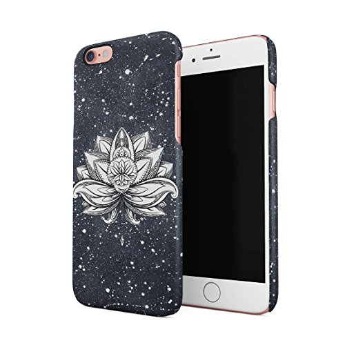 Henna Lotus Blossom Mandala Forest Night Sky Custodia Posteriore Sottile In Plastica Rigida Cover Per iPhone 6 & iPhone 6s Slim Fit Hard Case Cover White Lotus Tattoo