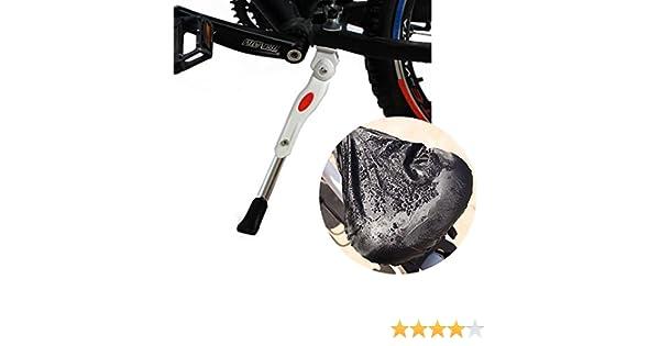 Alliage Daluminium R/églable MTB Bike Stand avec Pied en Caoutchouc Antid/érapant pour VTT Skisneostype V/élo B/équilles et Housse de Pluie de Selle Imperm/éable VTT et V/élo Pliant 24//26(Blanc)