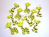 10 Holzknöpfe - Kinderknöpfe - Gelbe Giraffen