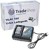 Trade-Shop Universal Li-Ion Akku Ladegerät 14,4V-18V Ladestation Schnellladegerät für Makita BHP452 BHP452HW BHP452RFE BHP452SHE BHP452Z BHP452Z BHP453 BHP453RFE BHP453RHE BHP453RHEX BHP453SHE BHP453Z BHP453Z BHP454